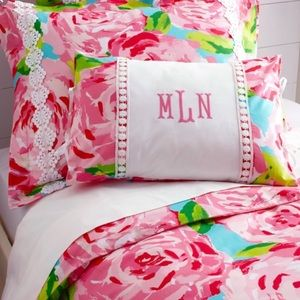 LILLY PULITZER DUVET COVER RARE HOTTY PINK TWIN